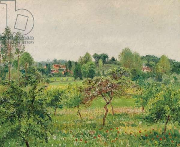 June, Rainy Weather, Eragny; Juin, temps pluvieux, Eragny, 1898 (oil on canvas)
