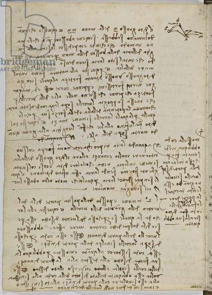 Birds Flight Code, c. 1505-06, paper manuscript, cc. 18, sheet 13 verso