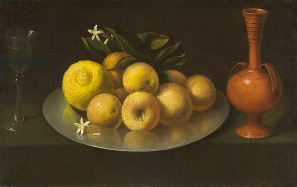 Still Life with Glass, Fruit, and Jar, c.1650 (oil on canvas)