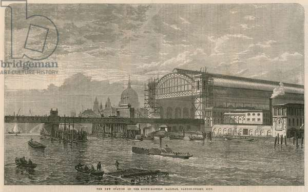 The new station of the South-Eastern Railway, Cannnon Street, London (engraving)