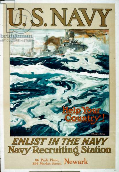 U.S. Navy WWI recruitment poster (colour litho)