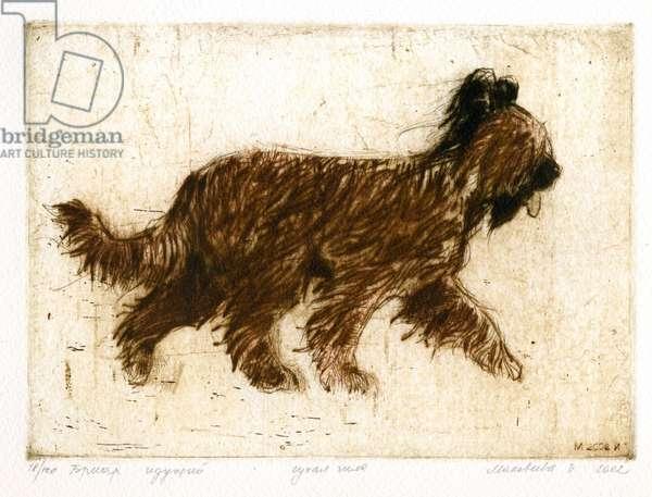 Dog, 2002 (drypoint)