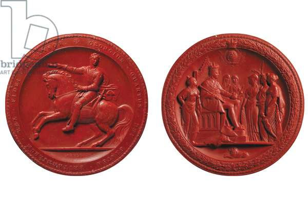 Great Seal of George IV, c.1821 (wax)