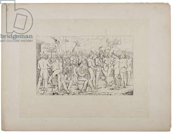 Enlistment of Sickles Brigade, c.1880-90 (etching)