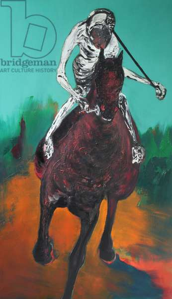 And Lo, A Black Horse, 2009 (oil & acrylic on linen)