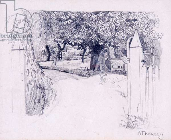 Gateway to the Farmhouse,2000,pencil