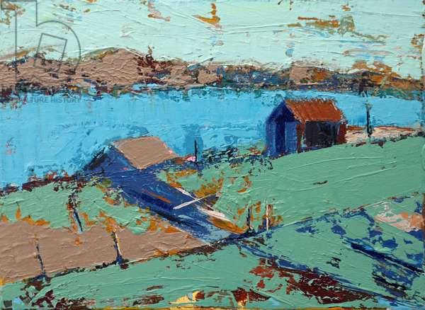 Farmstead (acrylic on canvas)
