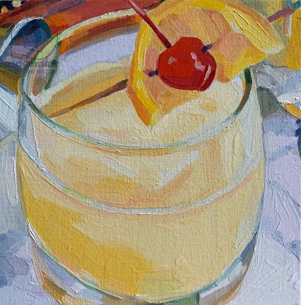 cocktail 7, 2019 (oil on board)