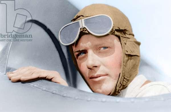 Charles A. Lindbergh in St. Louis, Missouri, USA 1923 (photo)