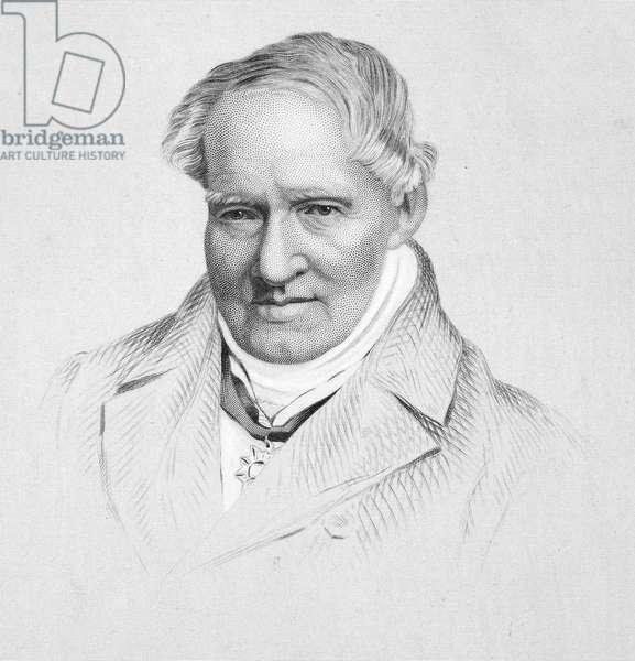 ALEXANDER von HUMBOLDT (1769-1859). German naturalist. Steel engraving, American, 19th century.