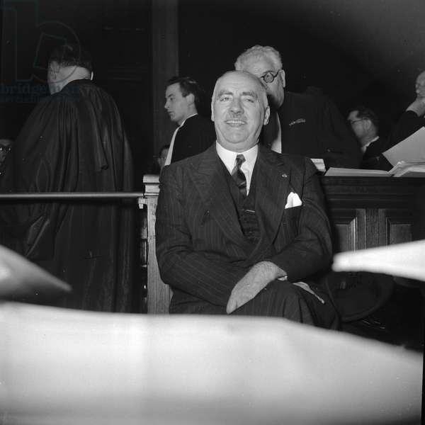 Henri Dupre's trial, Paris, 1950