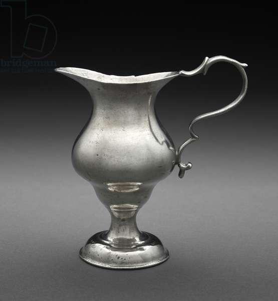 Cream pot, c.1764-98 (pewter)