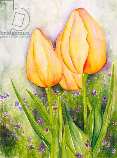 Yellow Tulips, 2006 (watercolor)
