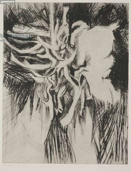Vision of Terror, 1962 (drypoint)