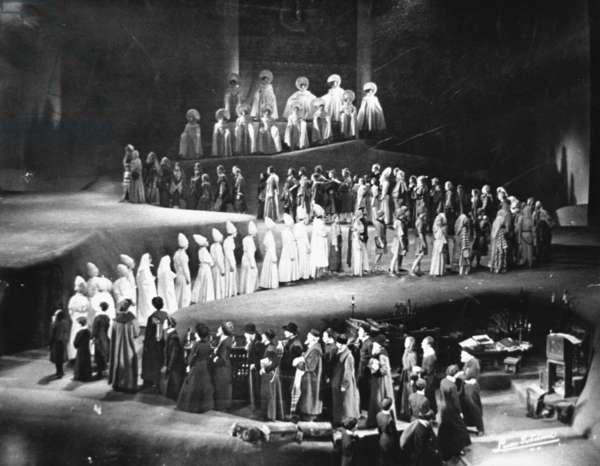Scene from 'The Eternal Road', Manhattan Opera House, 1937 (b/w photo)