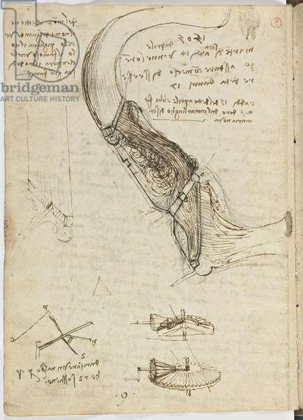 Birds Flight Code, c. 1505-06, paper manuscript, cc. 18, sheet 18 verso