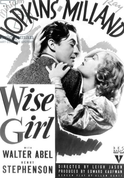 SOS vertu!: WISE GIRL, from left, Ray Milland, Miriam Hopkins, 1937