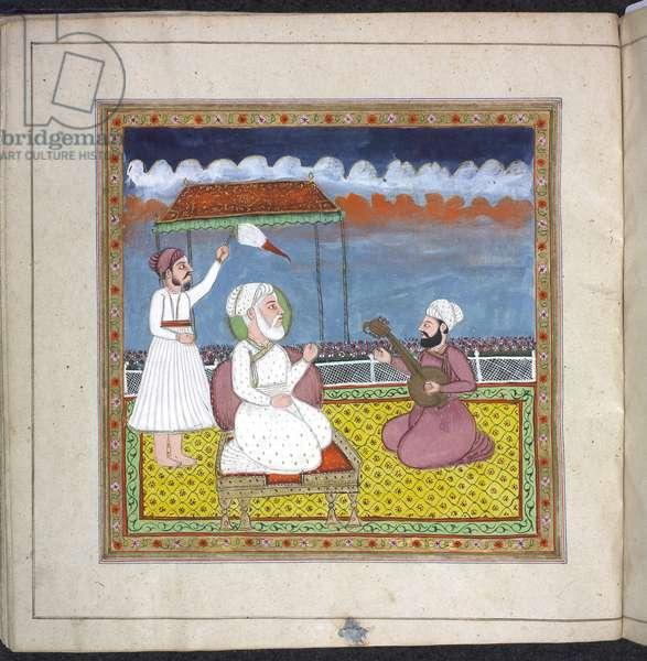 Panj.D.4  f.19 (left), Prayer Book of Rani Jindan, 1828-30 (vellum)