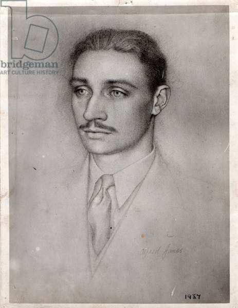 Portrait of Charles Fisher (1914-2006), 1937 (pencil on paper)