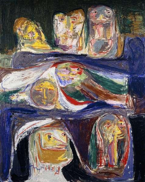 Repose, 1953-1959 (oil on board)