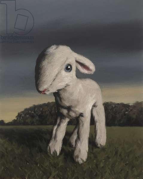 Lamb, 2009, (oil on paper)