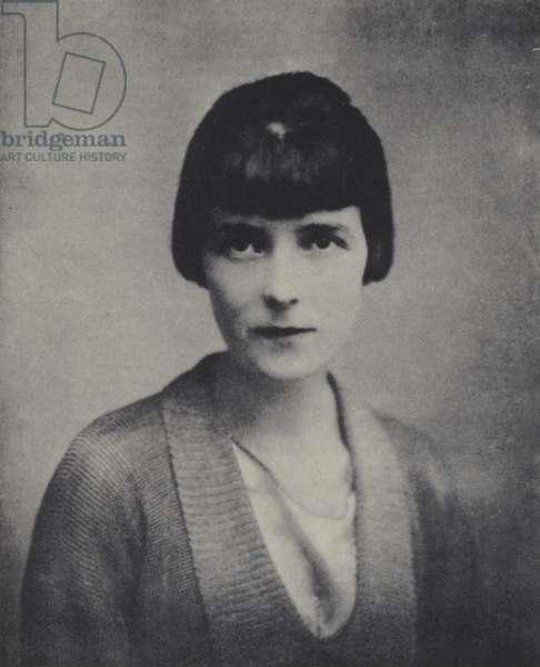Katherine Mansfield (b/w photo)