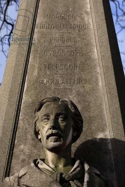 Tomb of Leon Foucault - cemetery of Montmartre (Paris 18th arrondissement).