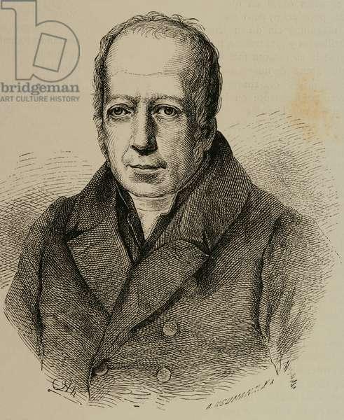 Alexander von Humboldt (1769-1859). Engraving.