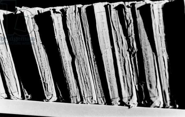 Books, Paderno Franciacorta, Italy, 2001, photo black and white, by Carola Guaineri