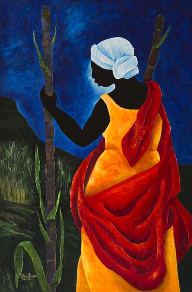 To the sugarcane field, 2013 (acrylic on canvas)