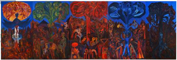 The 5 Trees, 1991 (oil on canvas)