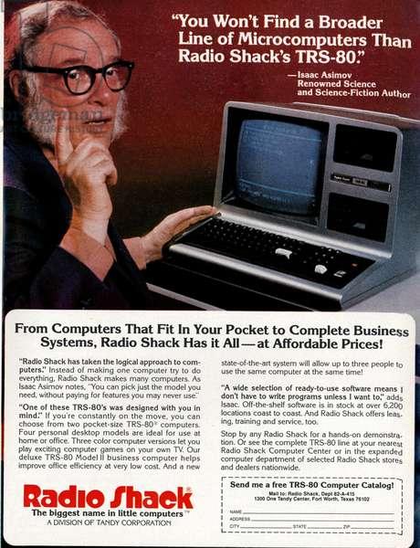 Radio Shack Magazine, advert, USA, 1980s