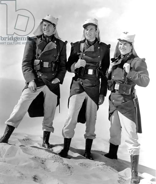 Ray Milland, Gary Cooper And Robert Preston., Beau Geste 1938 Directed By William A. Wellman