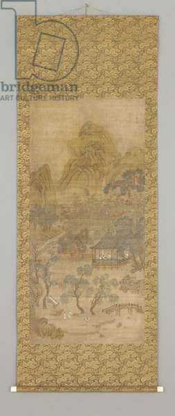 Shanshui (ink and colour on silk)