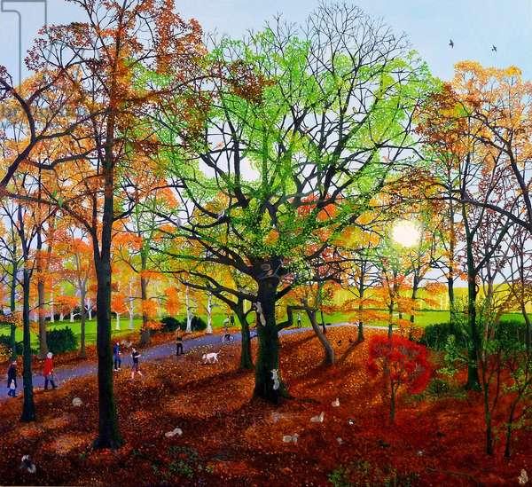 Autumn Squirrels, 2013 (oil on linen)