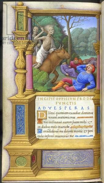 Death riding on a bull