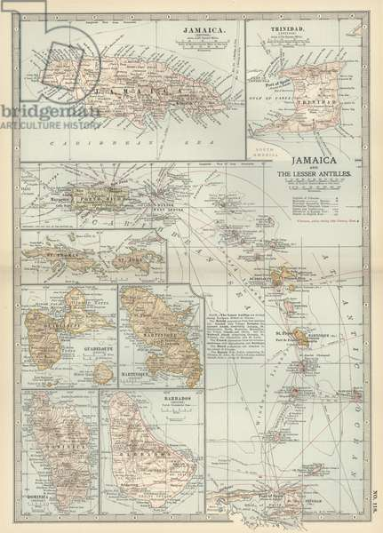 Map of Jamaica and the Lesser Antilles