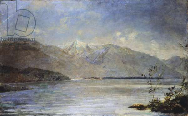 Ascona Overlooking the Islands of Saint-Leger, by Daniele Ranzoni, 1886-1887, oil on canvas