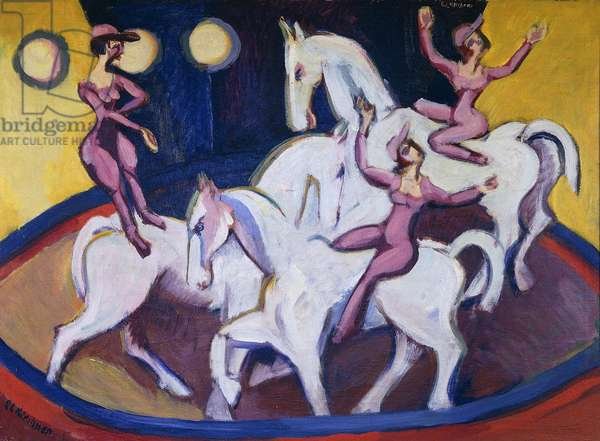 Jockeyakt, 1925 (oil on canvas)