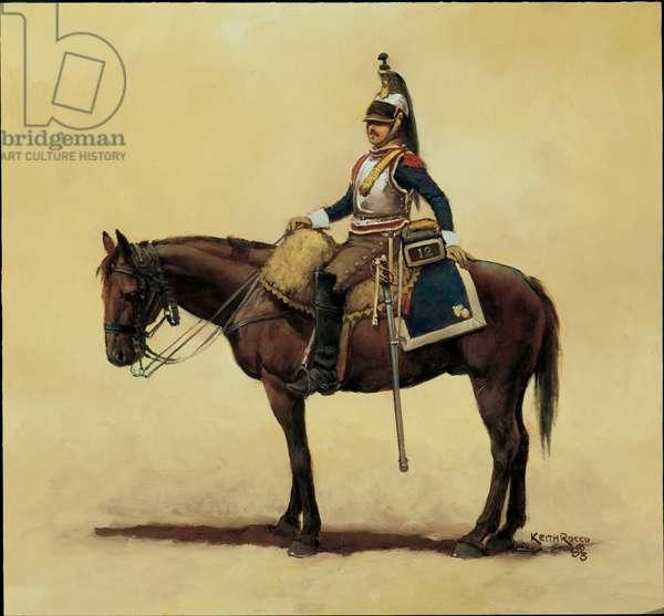 Trooper: 12th Cuirassiers 1805, 2003 (oil on board)