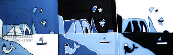 Les Falaises d´Étretat, 2014 ,(oil on linen)