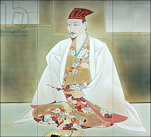 Japan: Toyotomi Hideoshi. Portrait on display in Osaka Castle