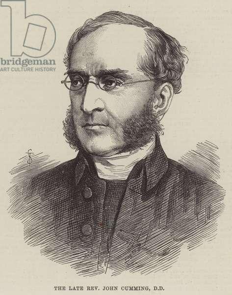 The late Reverend John Cumming, DD (engraving)