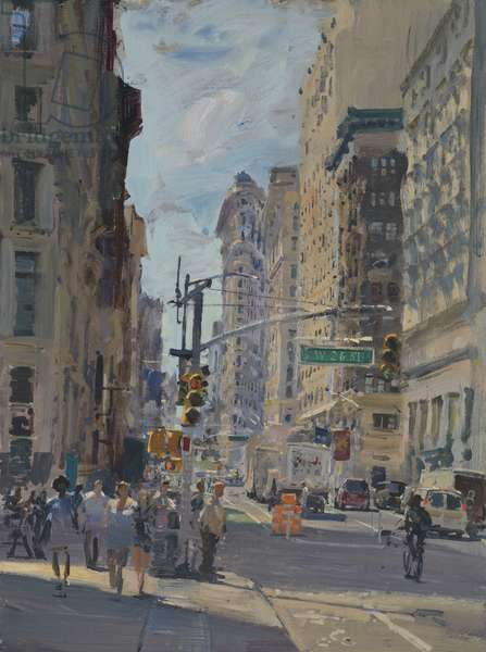 Flatiron from Broadway and 26th, 2017 (oil on board)