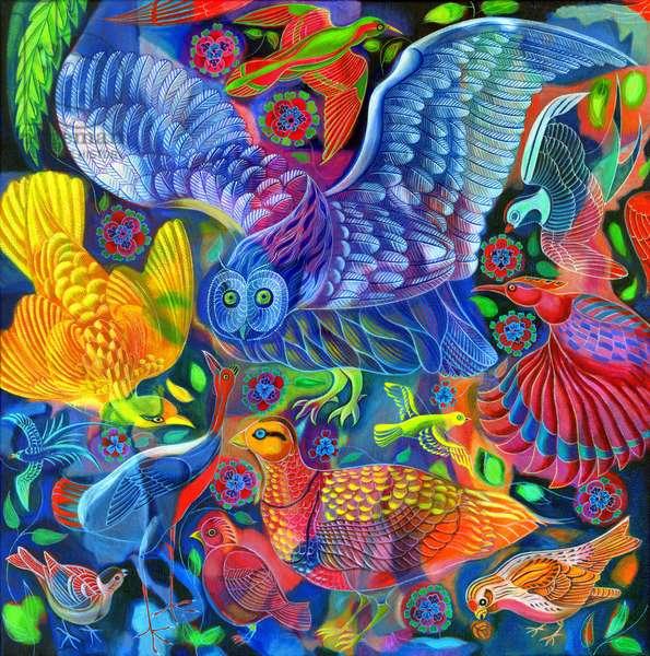 Birds, 2010, (oil on canvas)
