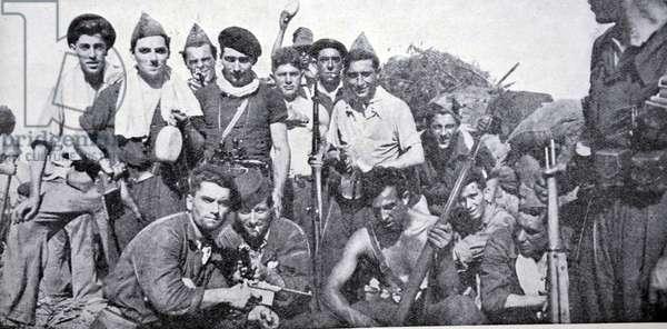 Spanish civil war: triumphant militia (Nationalist) in San Sebastian