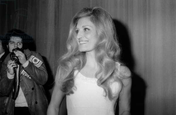 Dalida After Concert at The Olympia in Paris (b/w photo)