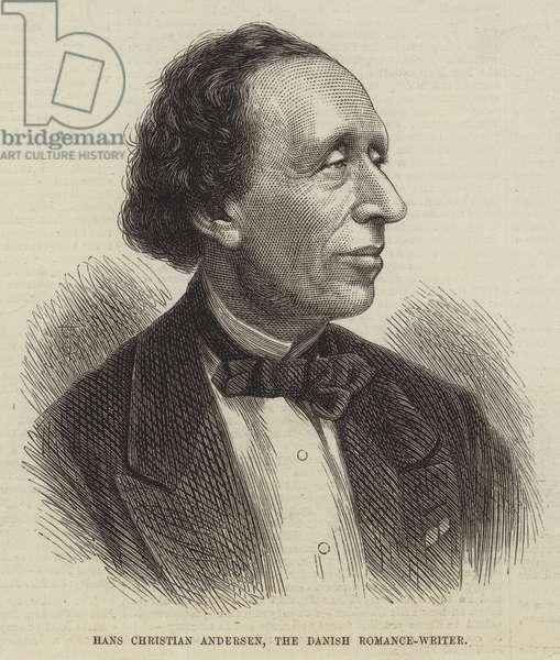Hans Christian Andersen, the Danish Romance-Writer (engraving)