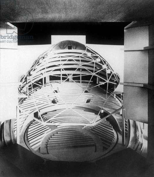 Scale model of Bauhaus theatre by Walter Gropius 1927