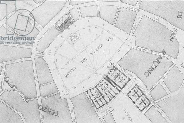 Piazza del Campo: Aerial and Topographic Views, c.1997 (photo)
